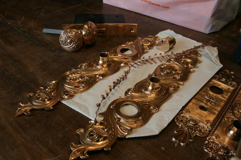 bronze entry set finishing