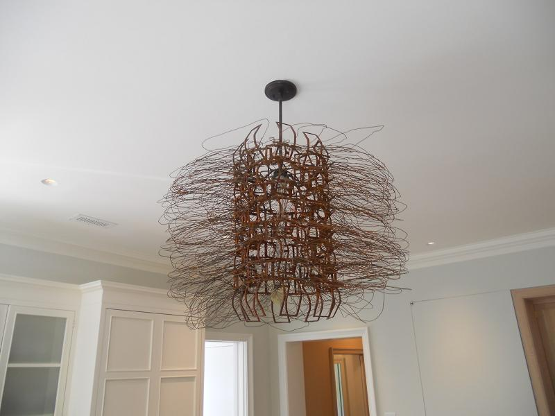 wire scupture light fixture | the Fine Architectural Hardware Blog