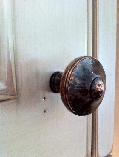 hammered cabinet knob