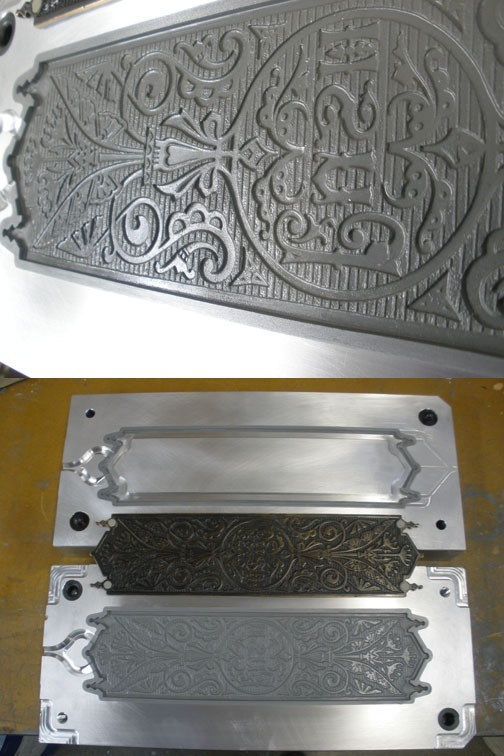 push plate mold | hardware replication
