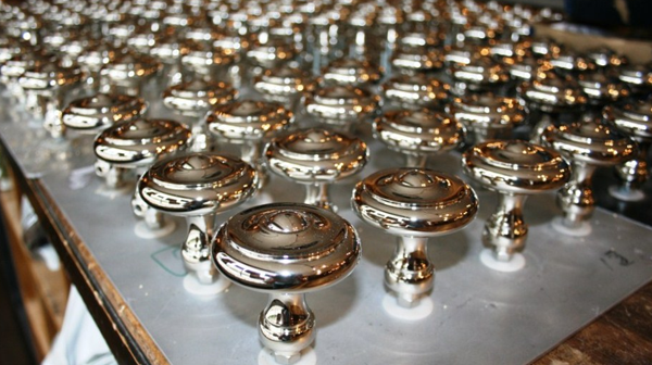 polished nickel sea of knobs
