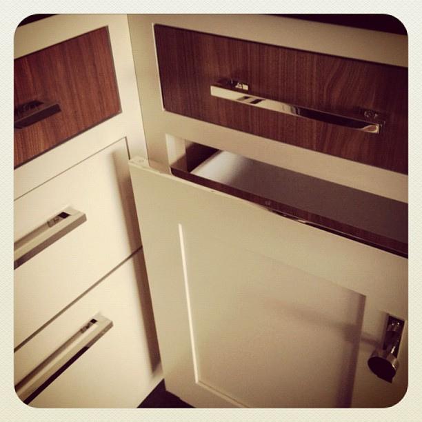 trash drawer metal strip