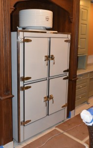 Restored Refrigerator - Ice box hardware