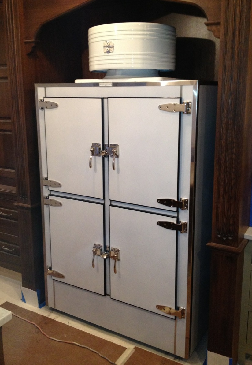 ice box hardware | restored refrigerator
