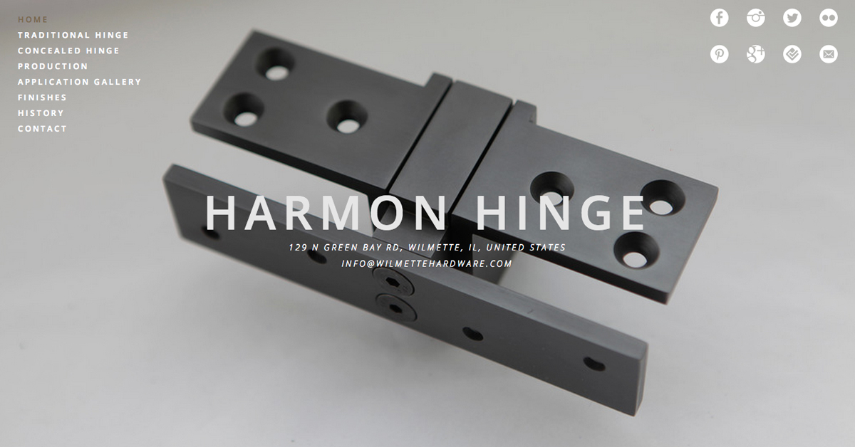 new harmon hinge website